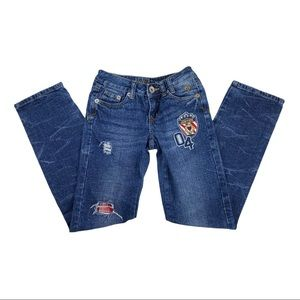 Justice Girls Patch Jeans Size 10S